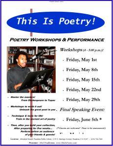 2009-05-01 - Poetry Workshops