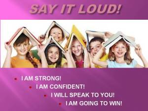 CHILDREN'S WORD WAR WON SHOW - SAY IT LOUD