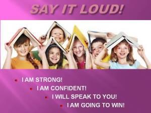 CHILDREN'S WORD WAR WON SHOW - SAY IT LOUD