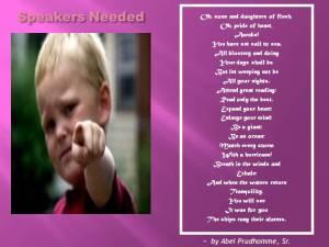 CHILDREN'S WORD WAR WON SHOW - SPEAKERS NEEDED